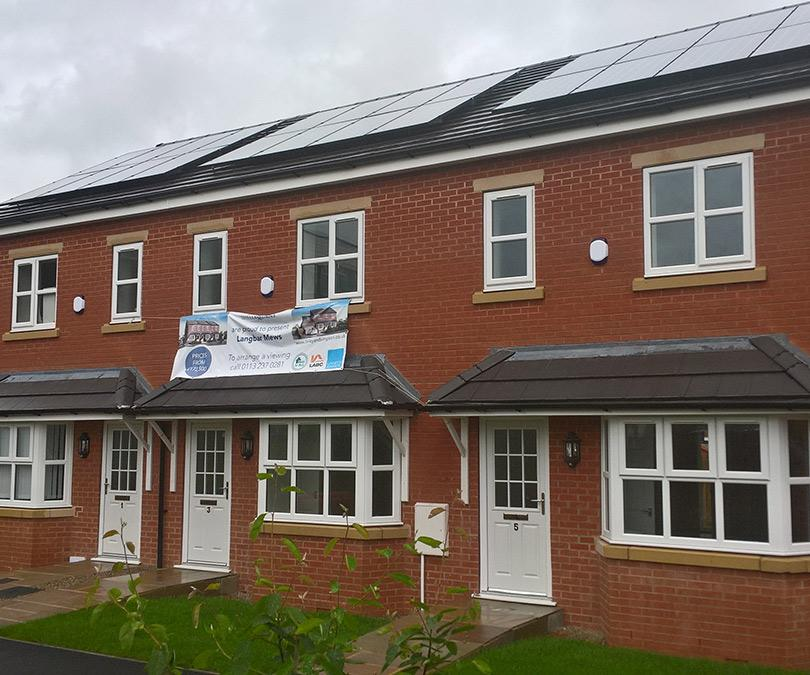Solar panel installation on new builds in Leeds