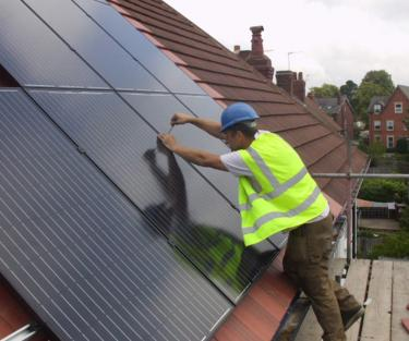 Solar PV domestic installation in leeds