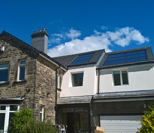 solar pv on a home in leeds