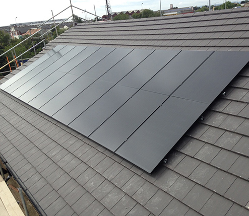 solar pv on a rooftop in leeds